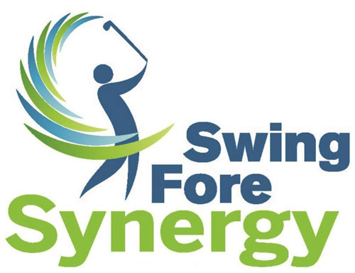 Swing Fore Synergy logo of person swinging golf club